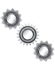 Small Round Mirrors for Wall Decor Set of 3 - Great Home Accessories for Bedroom, Living Room & Dinning Room