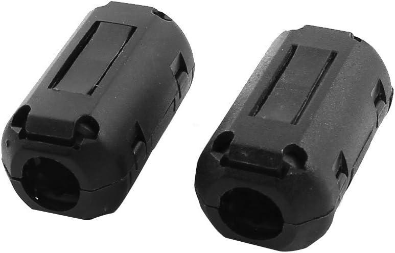 6Pcs 9mm Dia USB Cable Noise Suppressor Magnet Ferrite Core Wire Clip