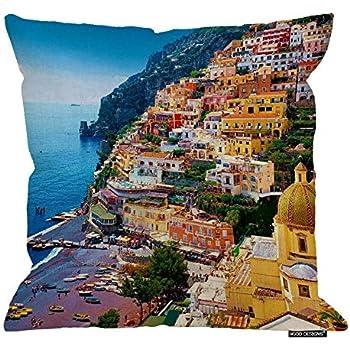 HGOD DESIGNS Positano, Amalfi Coast, Italy - Throw Pillow Cover Case (18