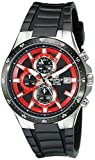 """Casio Men's EFR519-1A4V """"Edifice"""" Active Line Stainless Steel and Resin Watch"""
