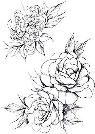 Adhesivos para el tatuaje, diseño de rosas y flores: Amazon.es ...