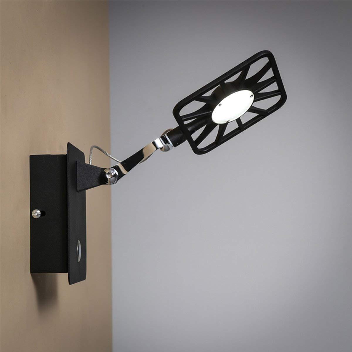 BXJ ウォールライト現代のシンプルな照明クリエイティブアイアン調整可能な壁ランプパーソナライズ研究寝室のリビングルームの壁ランプウォールランプ B07R9LP1GD