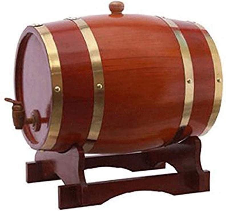 YYJIUTONG Personalizado - Barril de Roble Barril de Madera - Añeje su Propio Whisky, Cerveza, Vino, borbón, Tequila, Ron, Salsa Picante y más (Color : Chocolate, Size : 10L)