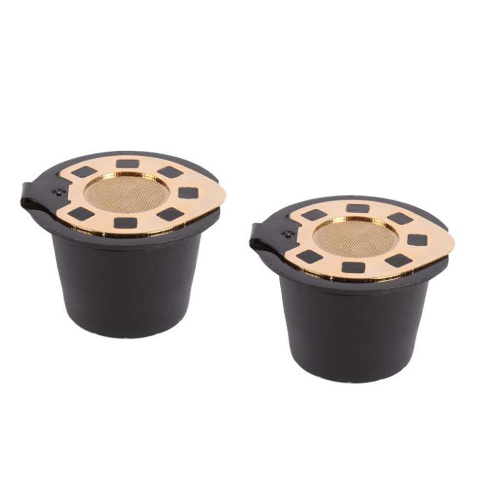 Ouken Tapa de acero Cápsulas café Nespresso cafetera reutilizable ...