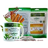 Certified Organic 160 Tea bags(8 packs of 20 tbags)of Ceylon/True Cinnamon Flavored BLACK TEA bags-100% Natural