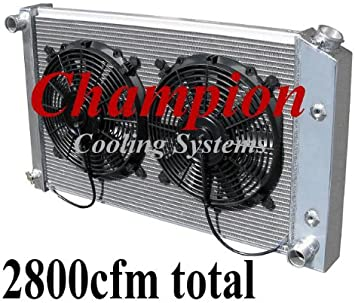 3 Row Champion Radiator for 1966-1977 Ford Bronco With Lifetime Warranty