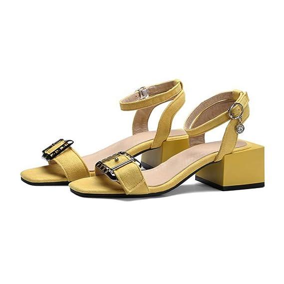 VIVIOO Sandali da Donna Neri Tacchi Alti Scarpe Estate