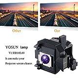 YOSUN Replacement Projector Lamp Bulb for Epson Elplp69 PowerLite Home Cinema 5020ub 5030ub 5025ub 6030ub 5030ube 6010 6020UB v13h010l69 Projector Lamp Bulb Replacement.