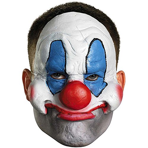 Evil Scary Clown Chinless Mask - One Size