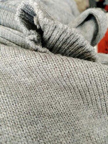Inverno Maniche Girocollo Colore Donna Tops Autunno Lunghe Oversize Pullover Maglione Minetom Sweatshirt Casuale Solido Knitted Maglia Maglioni Beige CXxz5tn