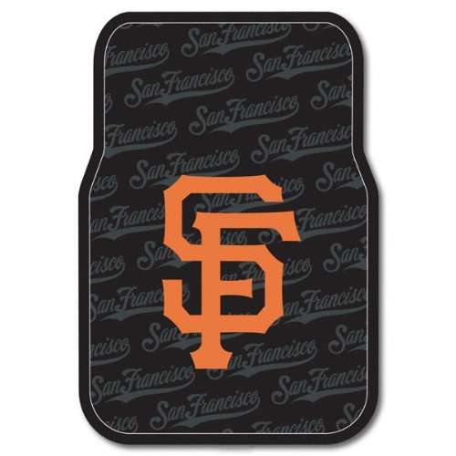 MLB San Francisco Giants Auto Front Floor Mat, 2-Pack (Mlb Rubber Floor Mat)