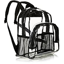 AmazonBasics Stadium Approved Mini Transparent Backpack Bag - Clear