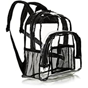 Amazon Basics Stadium Approved Mini Transparent Backpack Bag – Clear
