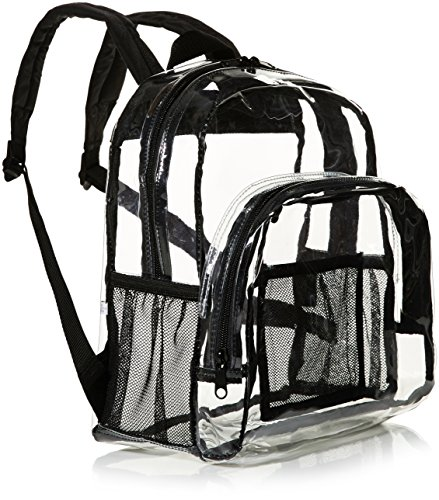 AmazonBasics Stadium Approved Mini Backpack, Clear by AmazonBasics