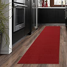 """Ottomanson OTH8400-20X59 Ottohome Collection Solid Design Runner, 20"""" x 59"""", Red"""