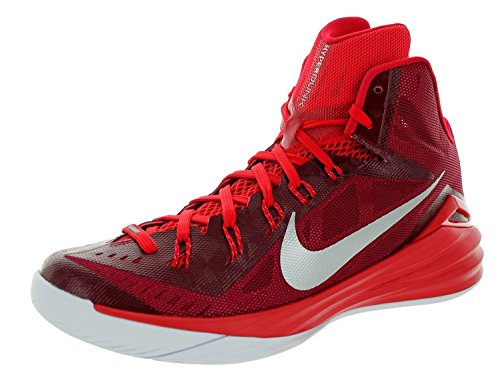 Nike Hyperdunk 2014 TB Men's Basketball Shoes, Gym Red/Metallic Silver/Bright Crimson, 11.5