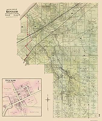 Amazon.com: MAPS OF THE PAST Euclid, Southern Ohio Landowner ...