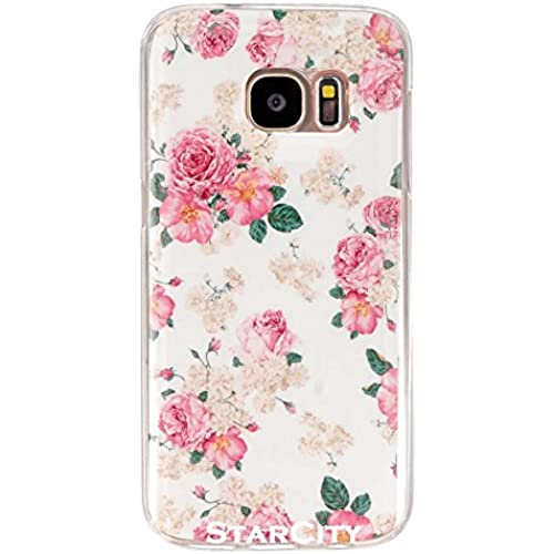 S7 Case, Galaxy S7 Case, StarCity Samsung Galaxy S7 Case, Flexible Soft TPU Case Skin Gel Protective Cover Case for Samsung Galaxy S7 (Flower Rose) Sales