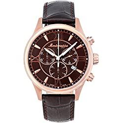 Montegrappa Fortuna Chronograph Men's Rose Gold Watch IDFOWCMM Swiss Made