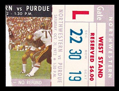 1972 Northwestern v Purdue Football Ticket 10/21/72 Ross-Ade Stadium (Northwestern Purdue Football)