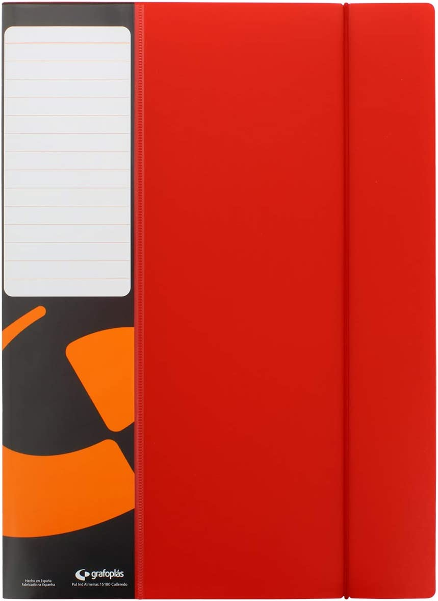 Grafopl/ás Folders Welded Sleeves 40 red
