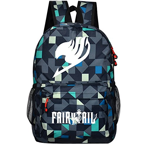 Fairy Tail Men Couples Rucksack Backpack Bookbag College Bag Backpack School Bag (Camouflage) by CosDaddy