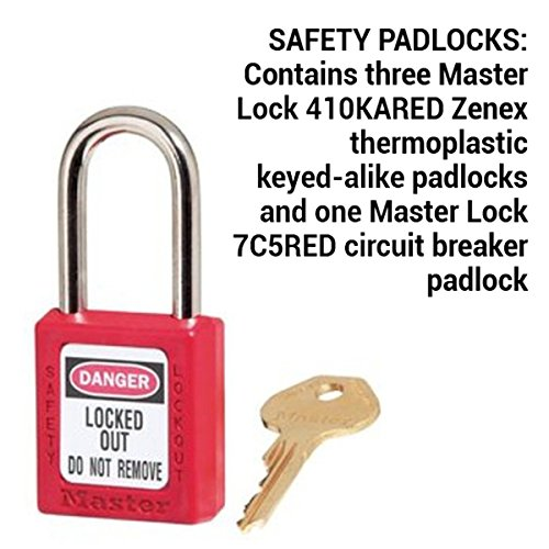 Master lock lockout tagout kit electrical lockout kit with master lock lockout tagout kit electrical lockout kit with thermoplastic safety padlocks 145e410ka industrial lockout tagout kits amazon industrial solutioingenieria Choice Image