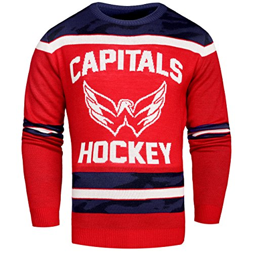 FOCO Washington Capitals Ugly Glow In The Dark Sweater - Mens - Mens Extra Large by FOCO