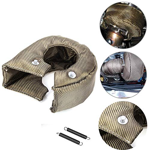 T4 GT40 GT42 GT45 Titanium Lava Cover Turbo Shield Turbo Blanket Stainless Steel Net Inside with Fastener Springs T4