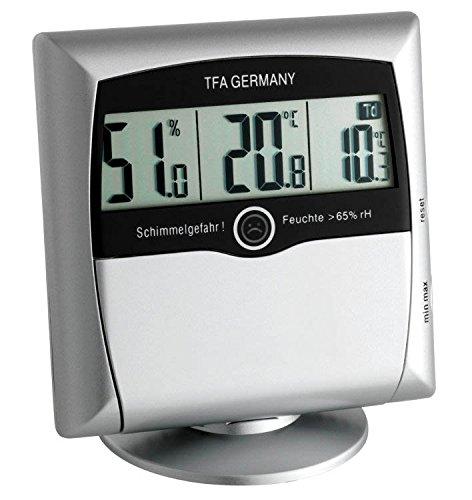 6 opinioni per TFA Dostmann 30.5011 Controllo del comfort termo-igrometrico digitale (argento)