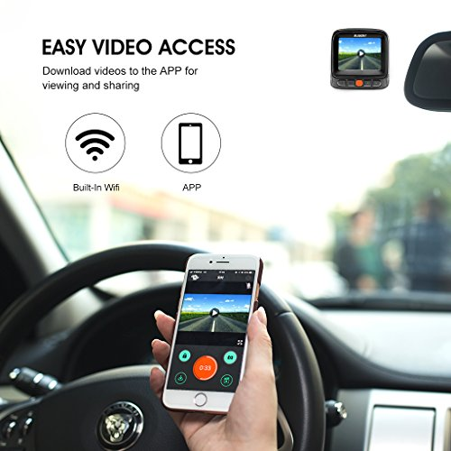 SUAOKI WiFi Dash Cam Front and Rear Car Recorder Kit with