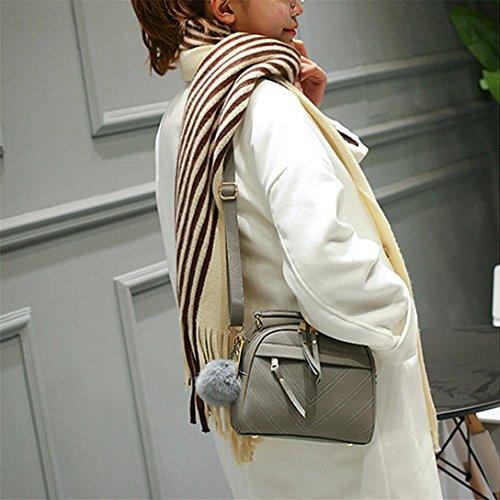 A Tracolla Donna Borsa Pelle Borse Messenger Inclinato Grigio Spalla Donna Bag kword Nuova In Brose Primavera Tote estate fBPn7AA