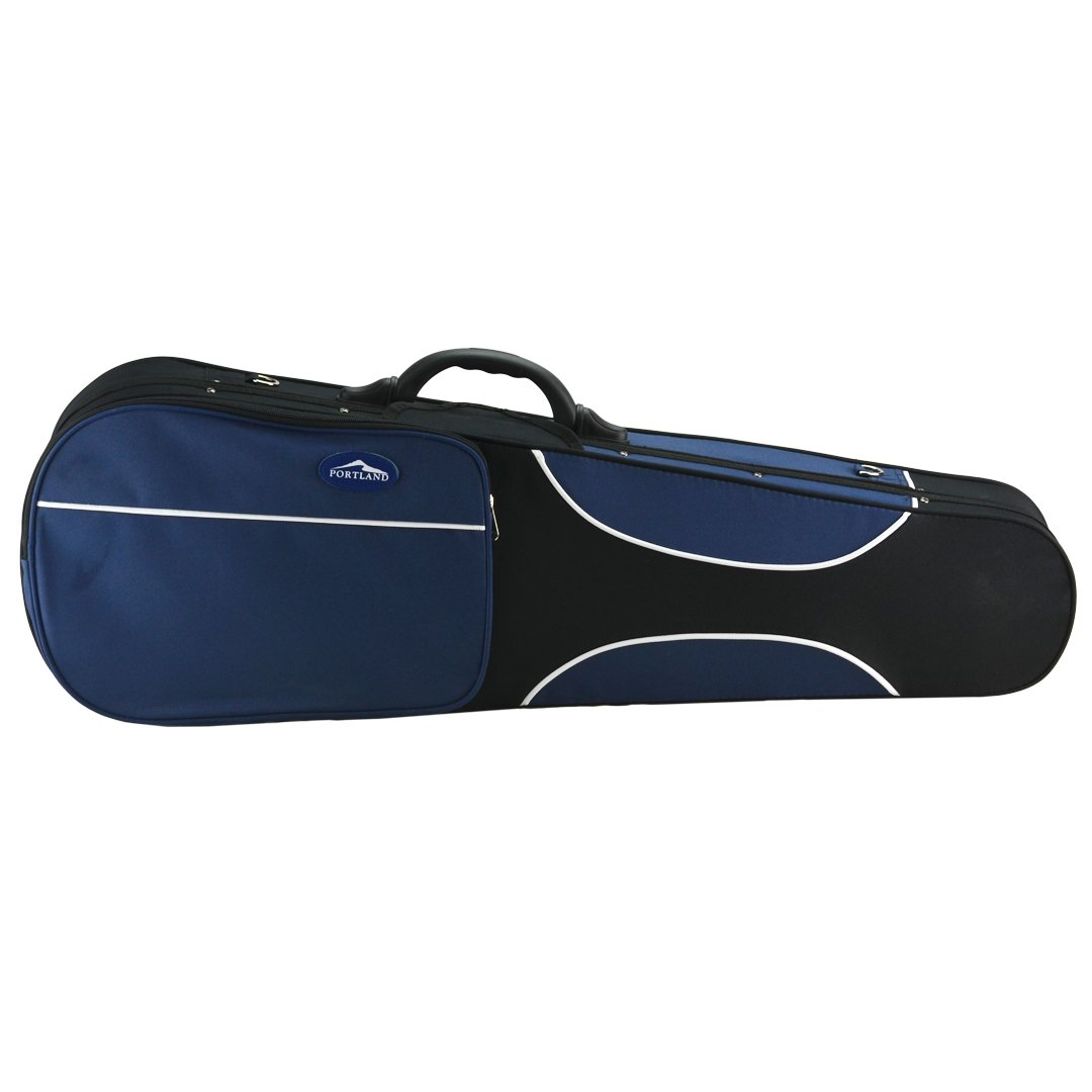 Portland Guardian Lightweight Shaped 4/4 Full Size Violin Case with Music Pouch, Carry Straps, and Sturdy Handle by Kennedy Violins