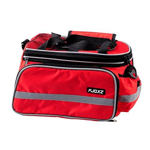 FJQXZ Bike Bicycle Pannier Bag Foldable Saddlebag Rear Seat Bag Rack Trunk Bag
