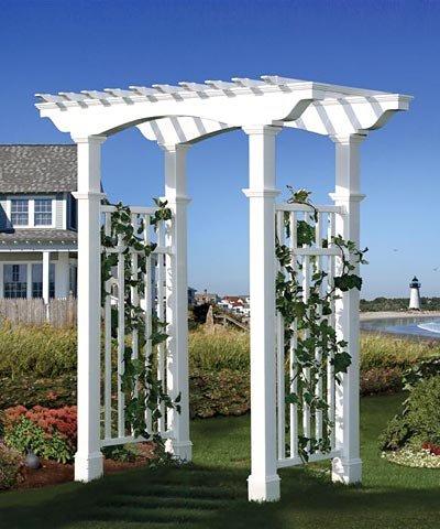 - New England Newport Arbor with Trim, White, 94