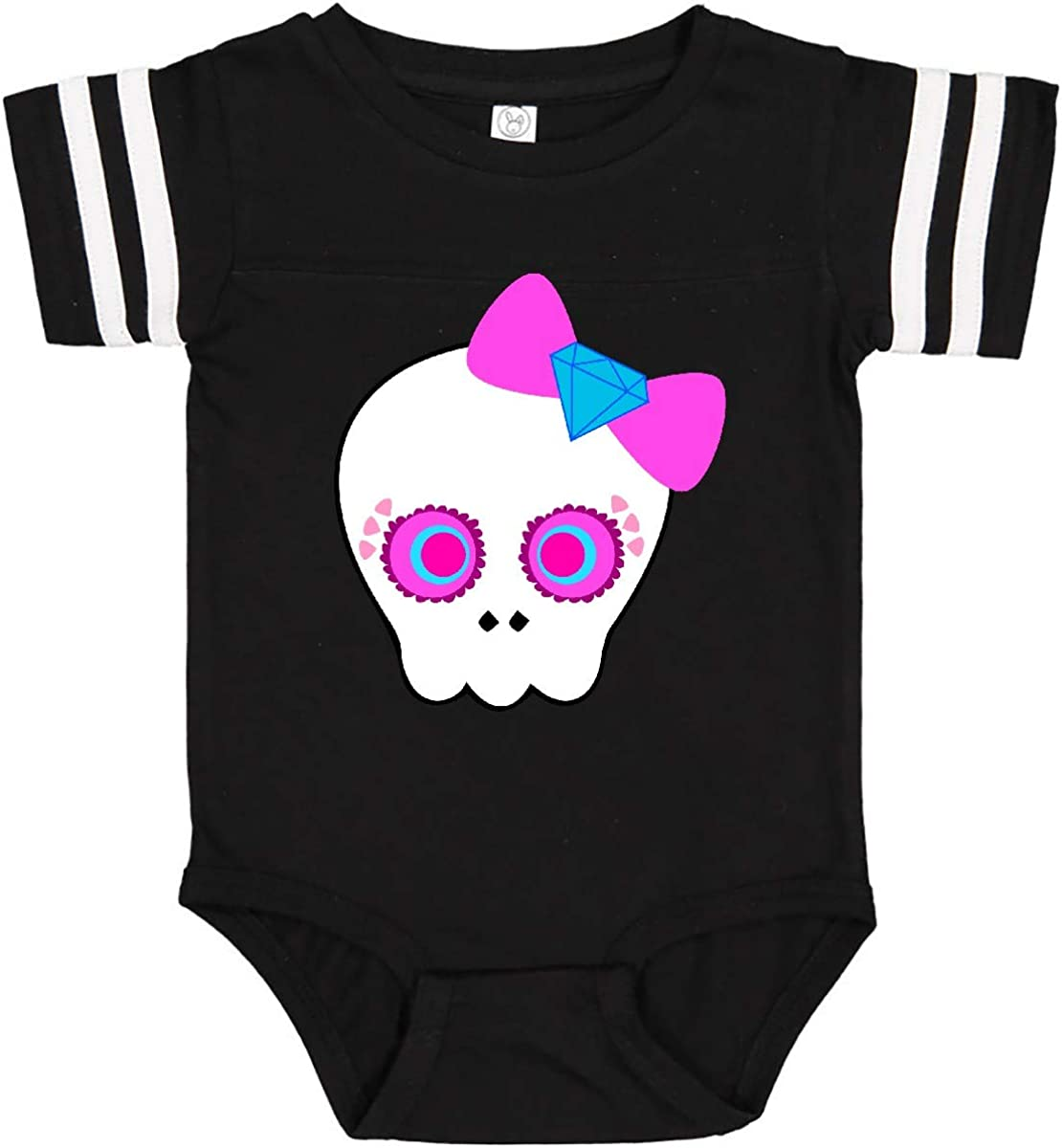 inktastic Pink Diamond Decorated Candy Skull Infant Creeper