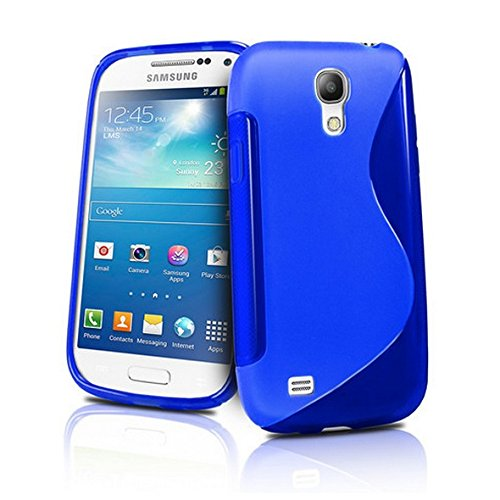 Cable And Case Rugged Shock Absorbent Slim Samsung Galaxy S4 Case Cover - Blue (Galaxy S4 Case Kirby compare prices)