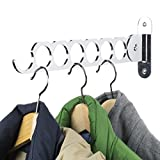 Clothes Hangers Holder - Wall Mount - Great for Baby, Kids, Men & Women Clothing - Perfect for Laundry, Cleaning and Organizing Your Wardrobe Chrome Finish