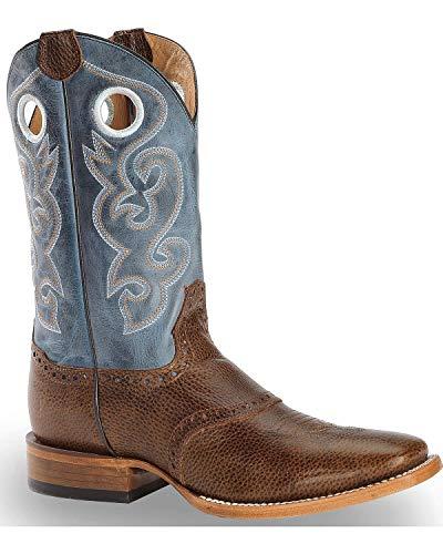 Cody James Men's Saddle Vamp Western Boot Square Toe Brown 12 D