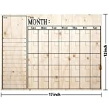 Fridge magnets Monthly Calendar print of the wood