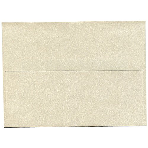 JAM PAPER A7 Metallic Invitation Envelopes - 5 1/4 x 7 1/4 - Opal Stardream - - Metallic A6 Envelopes Stardream
