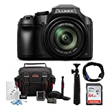Panasonic LUMIX FZ80 18.1MP 4K Point and Shoot Long Zoom Camera with 64GB SD Card and Accessory Bundle (5 Items)