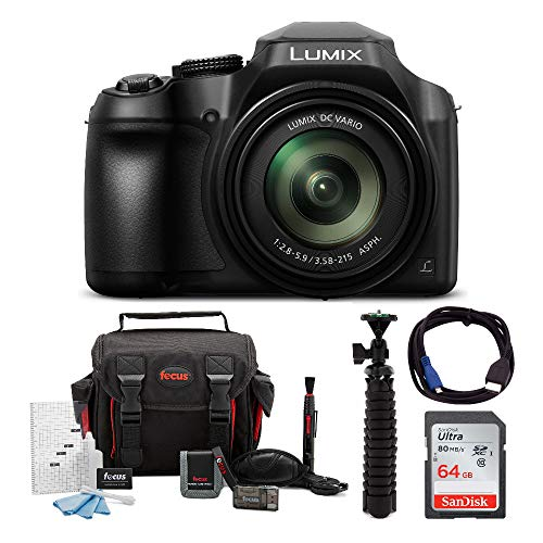 Panasonic LUMIX FZ80 4K Long Zoom Camera (18.1 Megapixels, 60X 20-1200mm Lens) + 64GB Accessory...