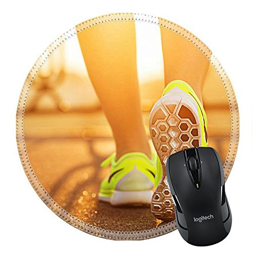 Msd Natural Rubber Mousepad Image Id 31878071 Runner Woman Feet Running On Road Closeup On Shoe Female Fitness Model Sunrise Jog Workout Sports Healthy Lifestyle C