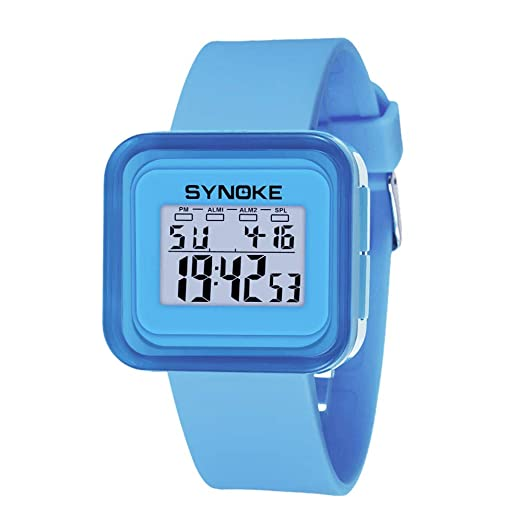 Kanpola Niño Smartwatch Fashion Relojes, Silicone LED Light Digital Sport Wrist Watch Kid Girl Boy Blue: Amazon.es: Relojes