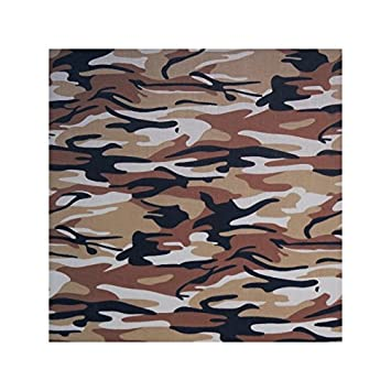NEW GREEN BEIGE CAMOFLAGE POLYCOTTON FABRIC BY THE METRE FREE POST