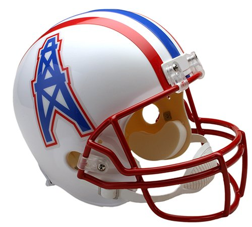 Houston Oilers 1981-1996 Throwback Riddell Full Size Deluxe Replica Football Helmet - New in Riddell Box