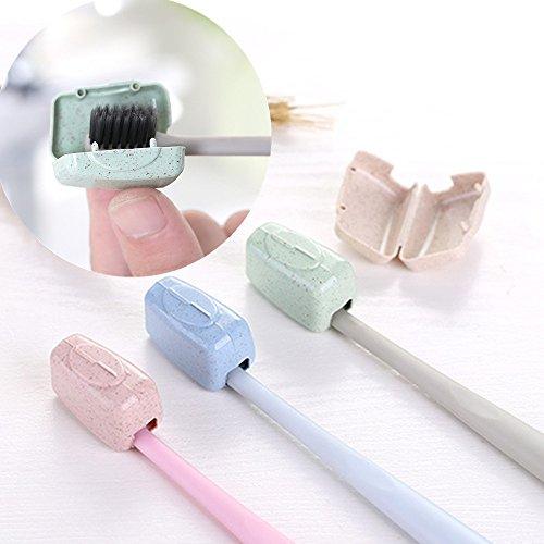 Iulove 4 PCS Set Portable Travel Toothbrush Cover Wash Brush Cap Case Box