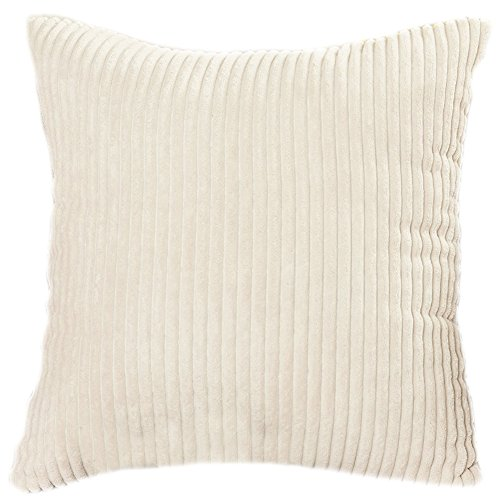Famibay Square Solid Cushion Cover With Invisible Zipper For