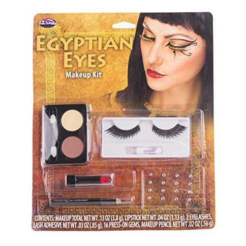 Fun World Women's Egyptian Eyes Makeup Kit, Multi, standard